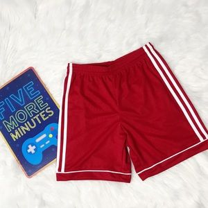 Adidas Boys Red Shorts